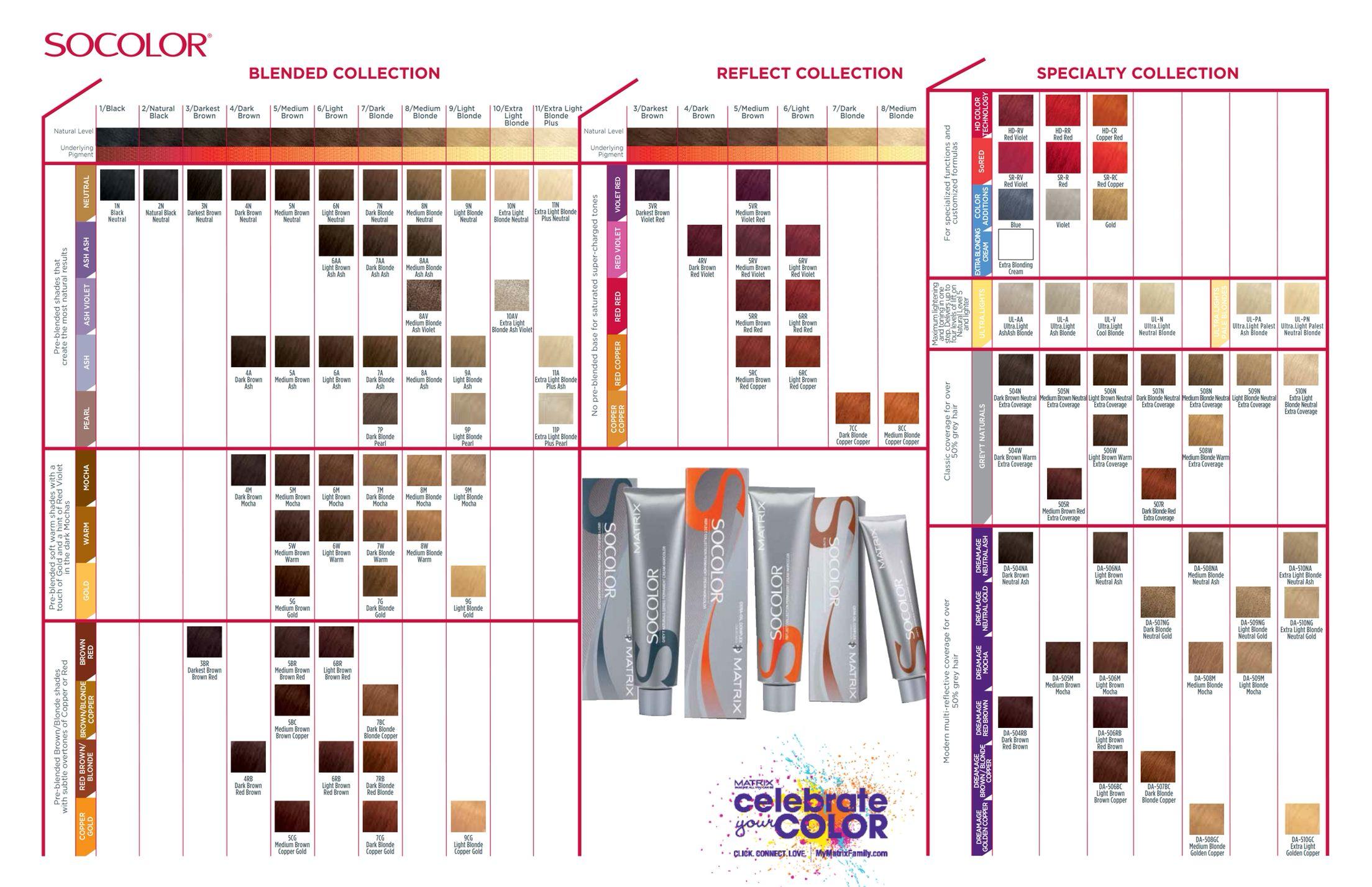 Matrix Socolor Matrix Socolor Chart Matrix Hair Color Chart Matrix Hair Color