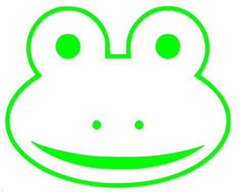ribbit a cute frog face outline vinyl decal by itsastickysituation