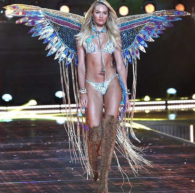 """Candice Swanepoel for segment """"Boho Psychedelic """" at VS Victoria's Secret Fashion Show vsfs 2015 - december/ in NYC"""