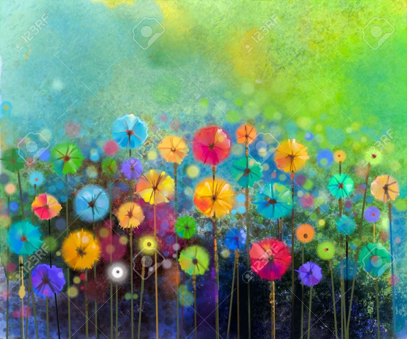 Abstract paintings abstract floral watercolor painting for Spring flowers watercolor
