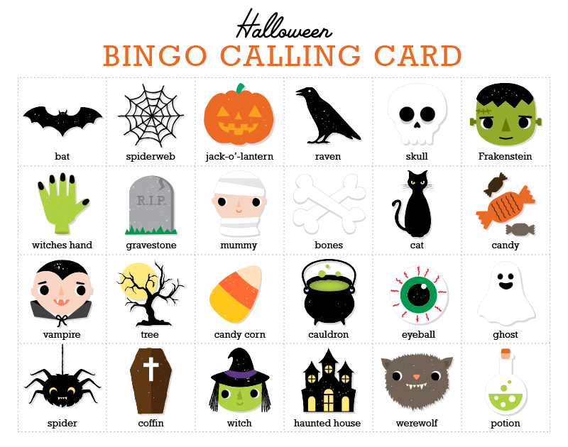 Halloween BINGO Game | Personal Creations Blog | Halloween ...