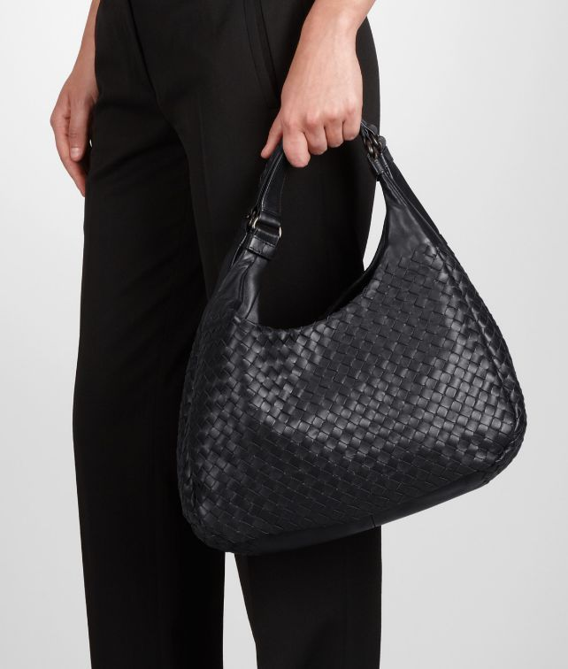 66321556ab Nero Intrecciato Nappa Campana Bag - Women s Bottega Veneta® Shoulder Or  Hobo Bag