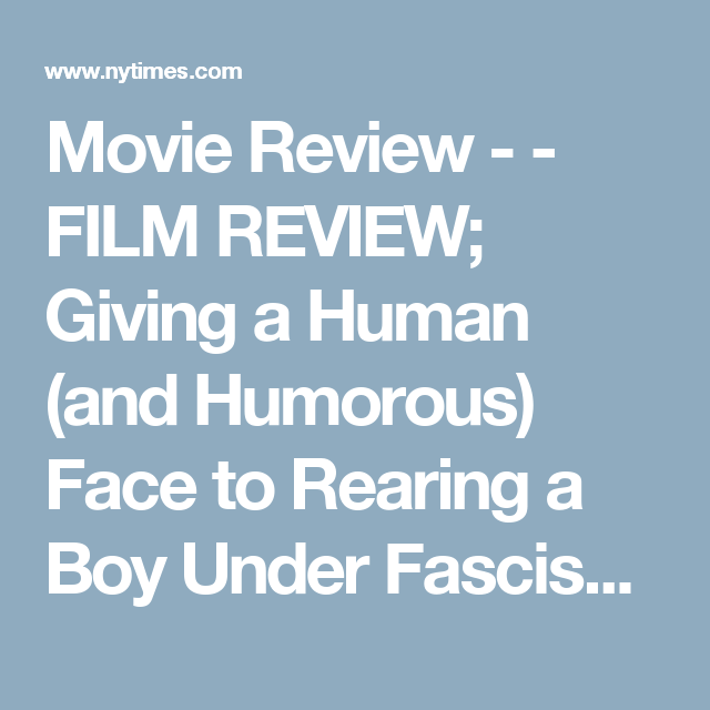 Movie Review   Film Review Giving A Human And Humorous Face