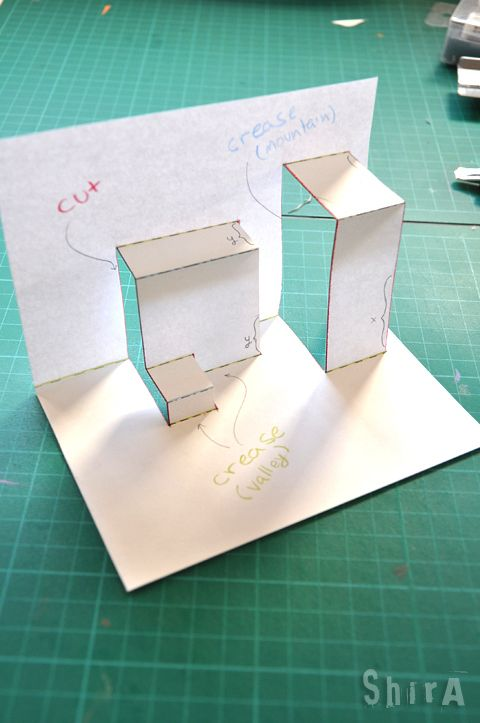 Pop Up Tutorial 2 Asymmetric Box Fold With Images Diy Pop Up