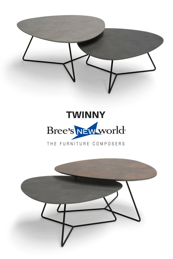 Nieuwe Salon Tafel.Twinny De Nieuwe Set Bijzettafels Van Bree S New World