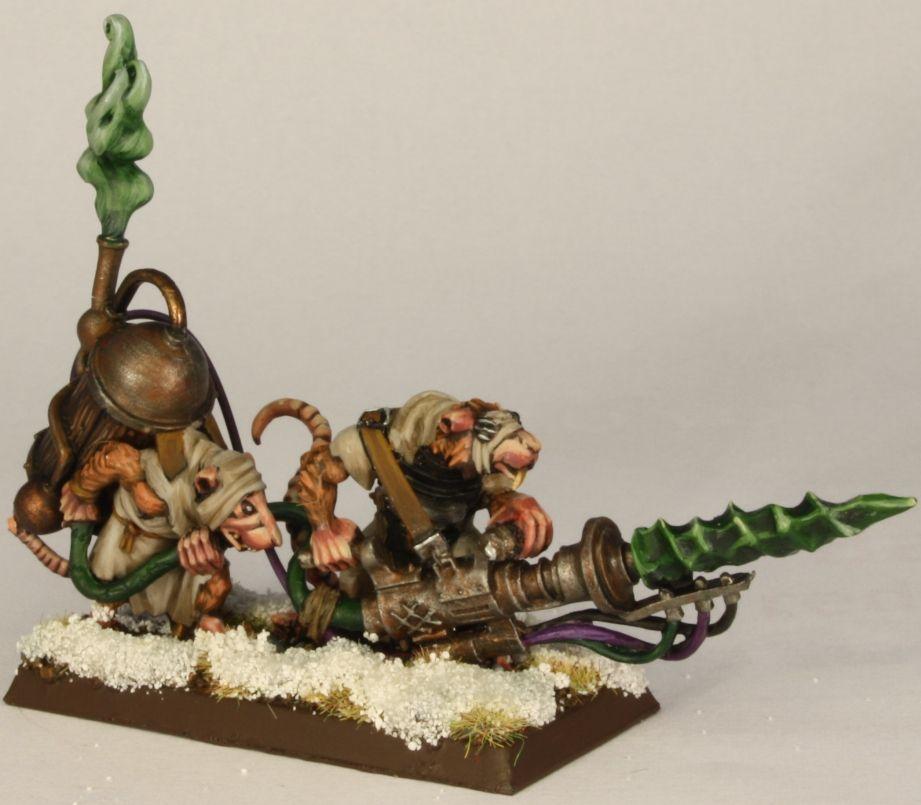 Warhammer Fantasy Warp-grinder Weapon Team Skaven