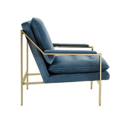 Best Tribeca Gold Accent Chair Blue Arctic Picket House 400 x 300