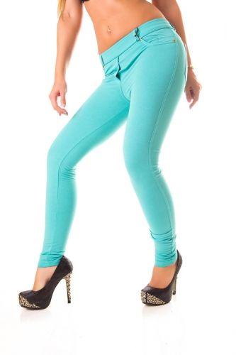 Passzos női elasztikus nadrág zsebekkel