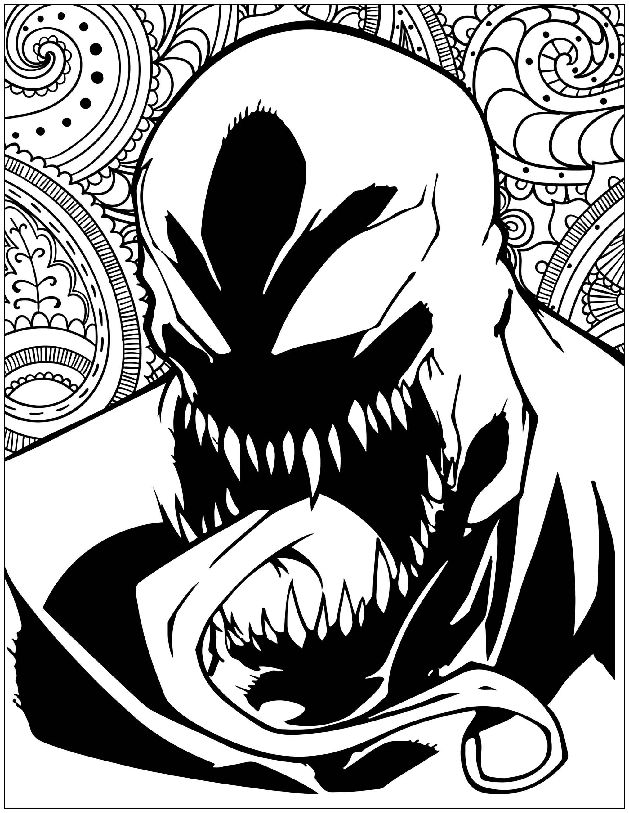 Marvel Villains Venom Books And Comics Coloring Pages For Adults