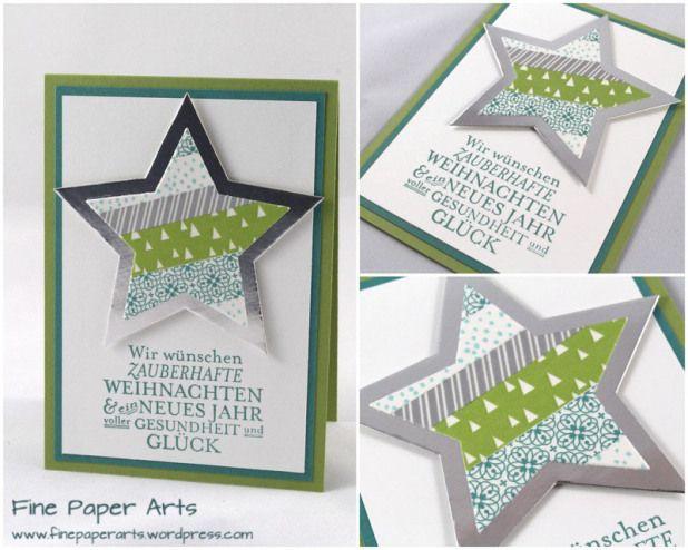 stampin 39 up christmas card weihnachtskarte zauber der. Black Bedroom Furniture Sets. Home Design Ideas