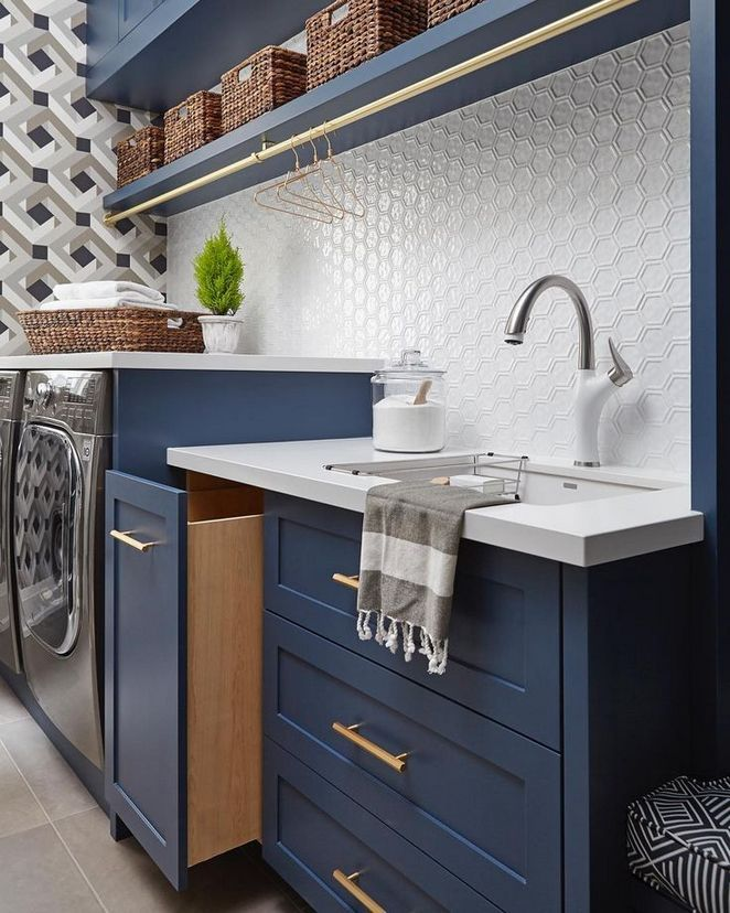 Photo of 40+ Details von Navy Laundry Room – Dizzyhome.com