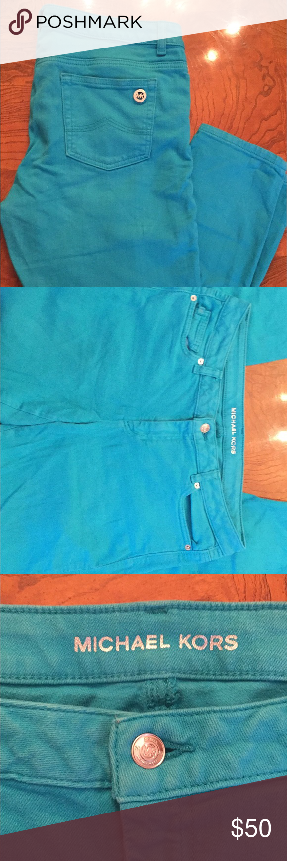 FINAL PRICE DROP Michael Kors pants! Never used!! Cute color! Perfect for summer! Need to go! FINAL PRICE! Closet close out! Michael Kors Pants Skinny