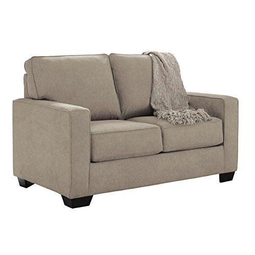 Flexsteel Sofa Ashley Zeb Twin Size Pull Out Sofa Sleeper with Memory Foam Mattress
