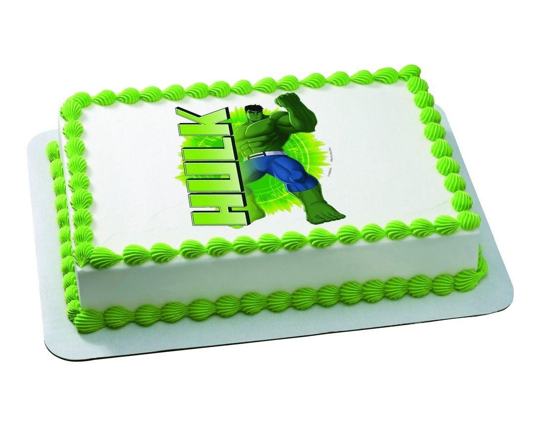25 Ways to Make a Great Incredible Hulk Birthday Cake Hulk
