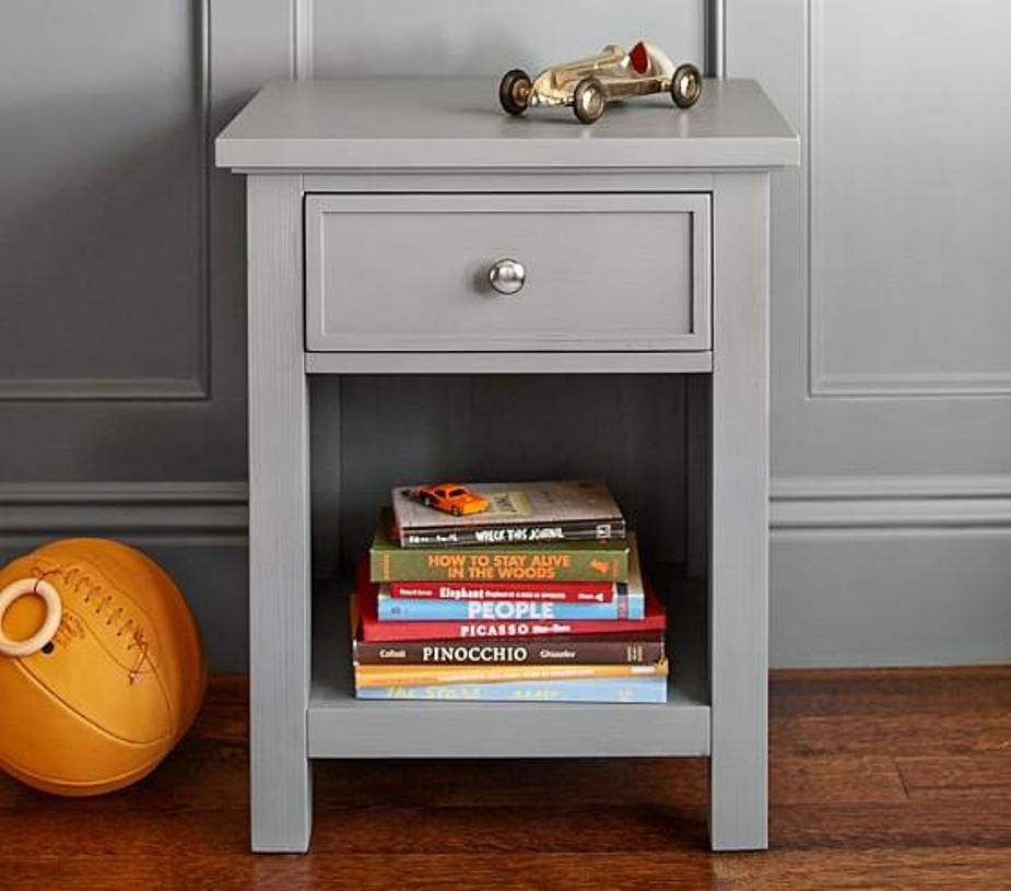 Superb Gray Painted Nightstand