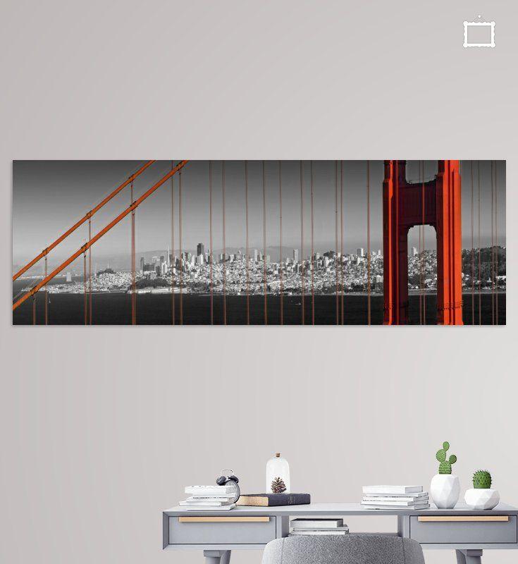SAN FRANCISCO Golden Gate Bridge Panorama von Melanie Viola
