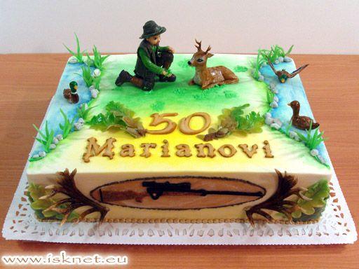 Torta Poľovník a srnec _ Chasseur, Hunting, Deer _ Ako na to? hobby torty od Ivanky a Slavomíra * How? hobby cake * Jak na to? hobby dorty