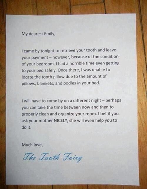 A Funny Letter From The Tooth Fairy  Little Smiles Pediatric
