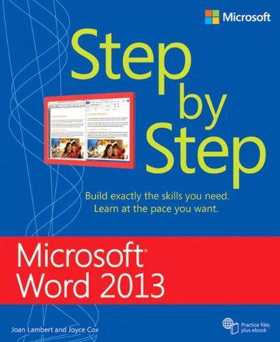 Microsoft Word 2013 Step By Step Joan Lambert, Joyce Cox