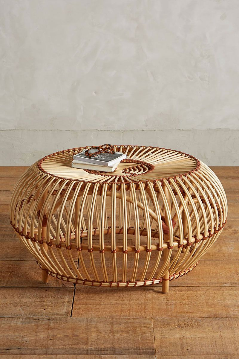 12 Round Coffee Tables We Love The Everygirl Rattan Coffee Table Bamboo Furniture Rustic Outdoor Furniture