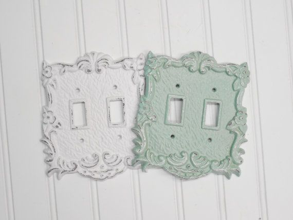 Double Light Switch Covershabby Chicnurserybedroomdecorative