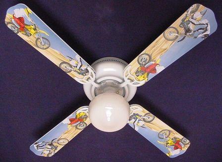 Motocross Nursery Theme New Motorcycle Ceiling Fan 42