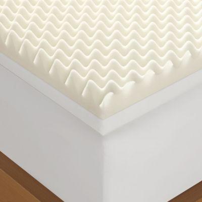 Serta 4 Memory Foam Queen Egg Crate Mattress Topper In White