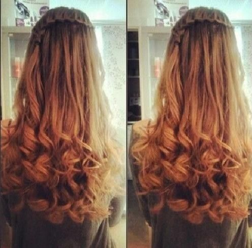 Best Long Wavy Hairstyles Long Curly Hairstyles Long Curly - Hairstyle with curls and braids