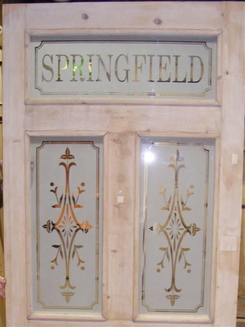 Etched Glass Victorian Edwardian Traditional Door Panels Living