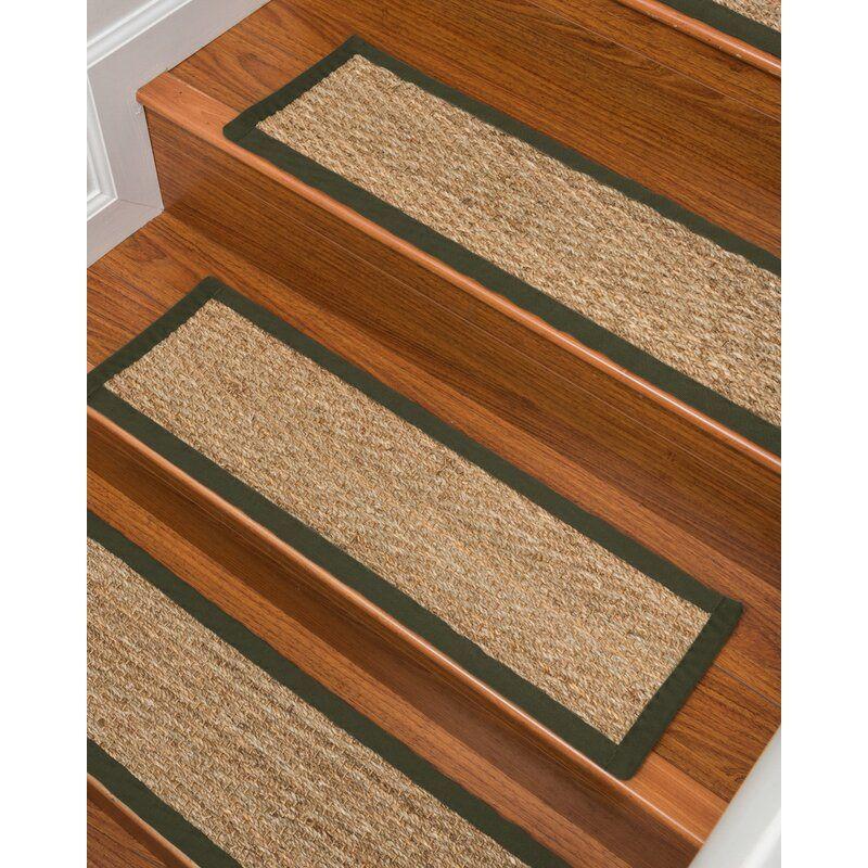 Beach Indoor Seagrass Fiber Stair Treads