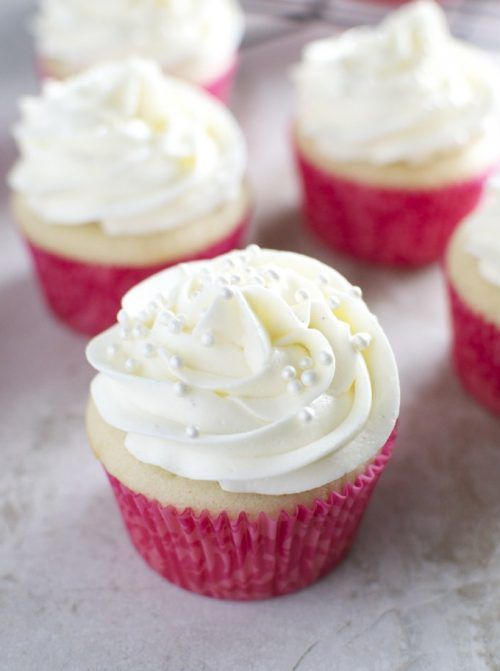 Almond Cupcakes with Whipped Almond Buttercream Frosting Recipe