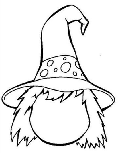 simple witch coloring pages - photo #29