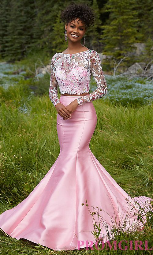 Mori Lee Long Sleeve Two Piece Prom Dress | formal | Pinterest ...