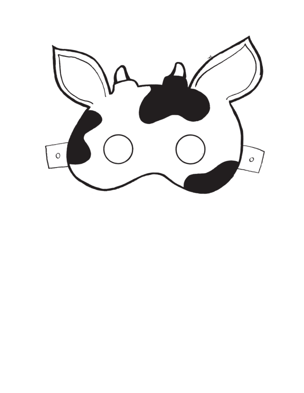 image regarding Free Printable Cow Mask identified as minor cow mask crafts Cow mask, Printable cow mask