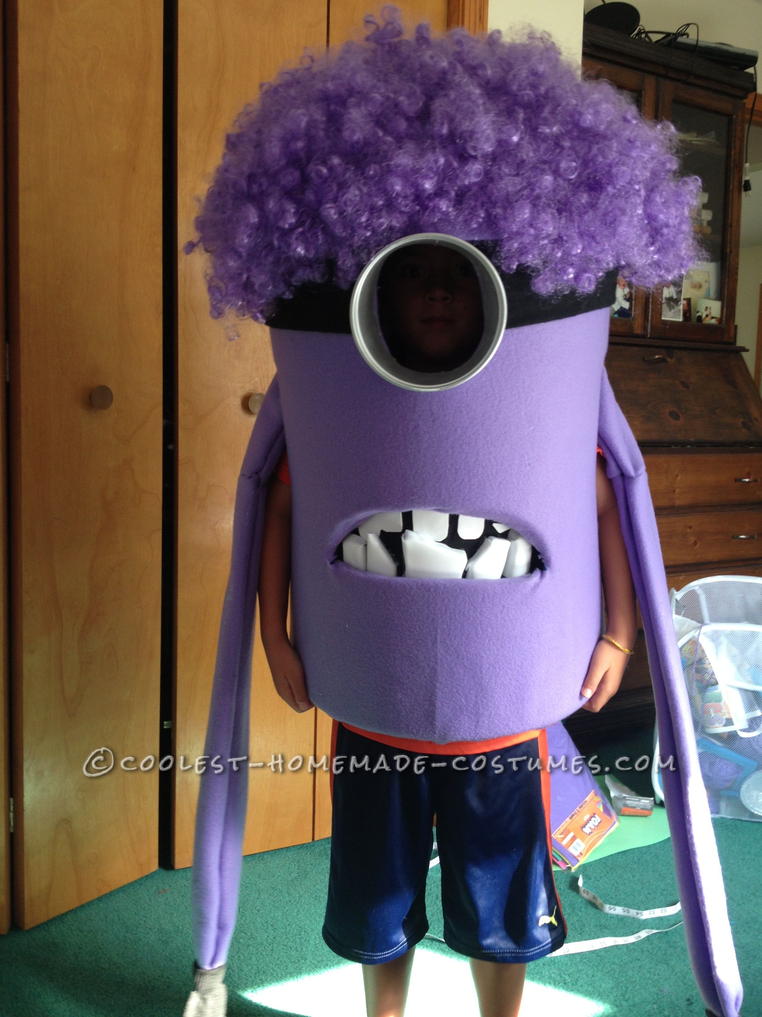 Coolest Homemade Purple Evil Minion Costume from Despicable Meu2026 Enter Coolest Halloween Costume Contest at //ideas.coolest-homemade-costumes.com/submit ... & Coolest Homemade Purple Evil Minion Costume from Despicable Me ...