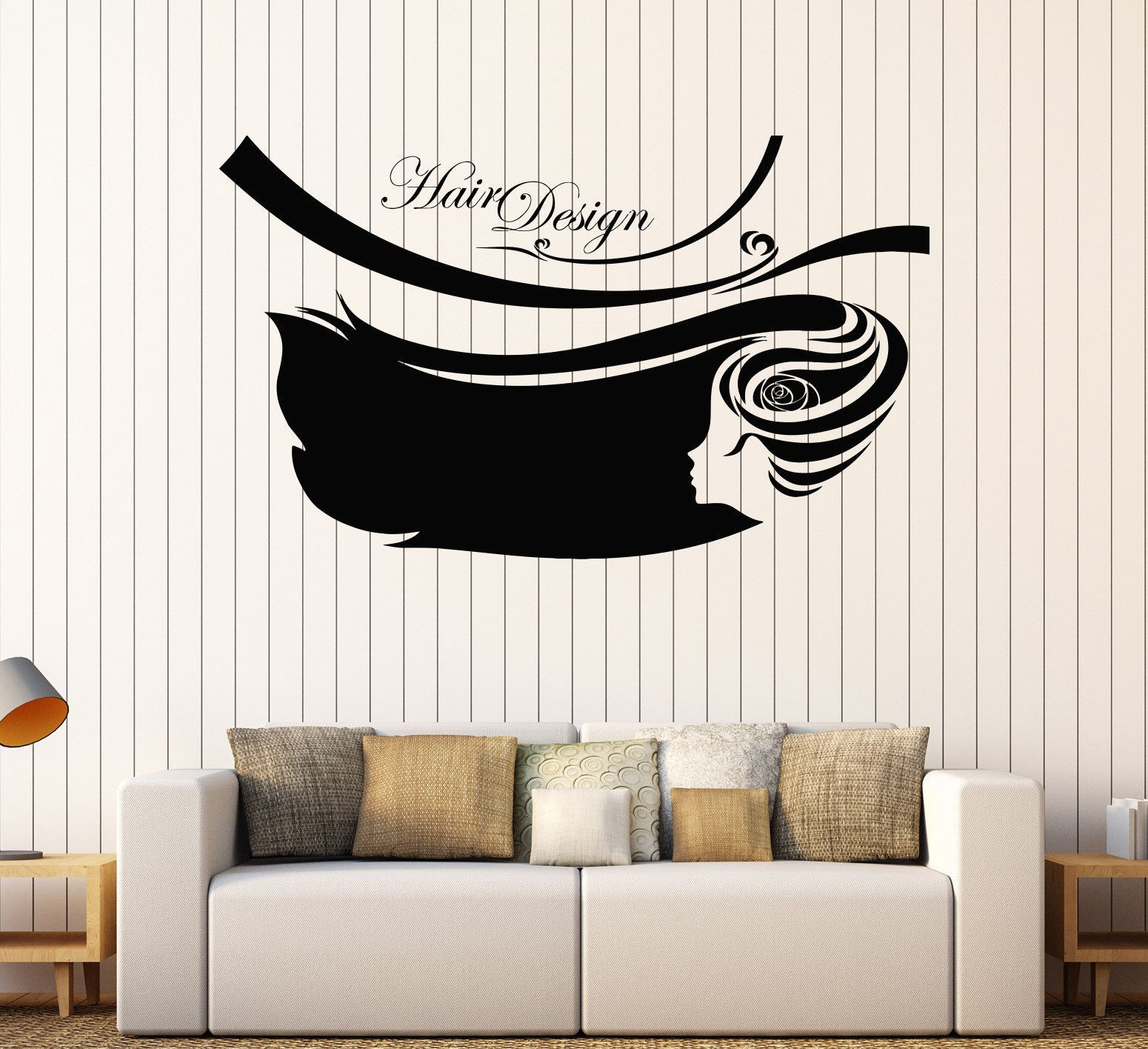 Vinyl Wall Decal Hair Design Beauty Salon Barbershop Hairdresser - Custom vinyl wall decals for hair salonvinyl wall decal hair salon stylist hairdresser barber shop