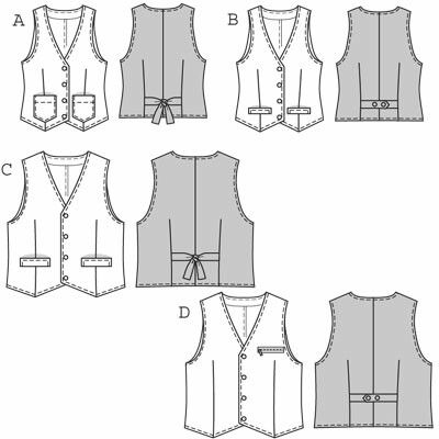 Another set of waistcoat designs