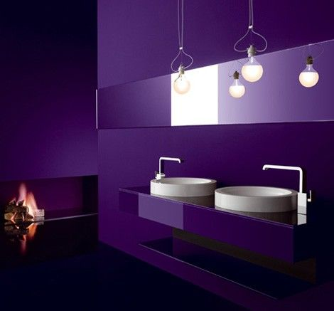 Modern Dark Purple Bathroom #sephoracolorwash