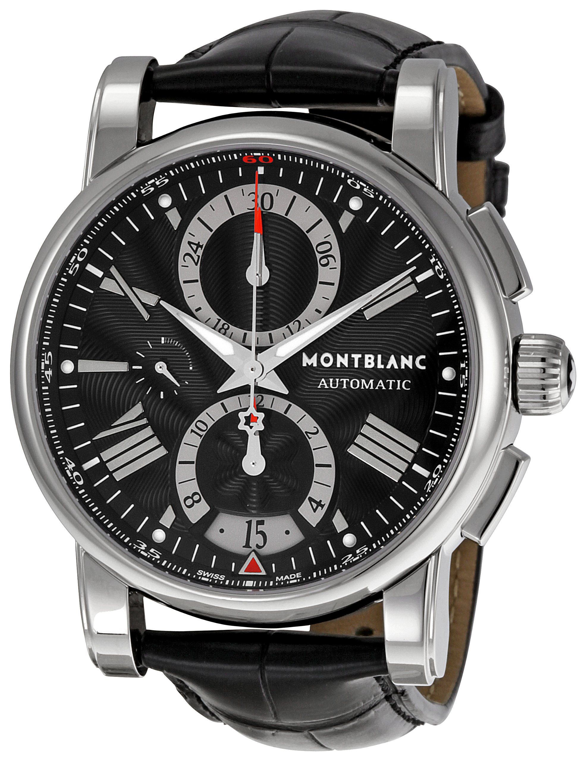 b01f210bc79 Montblanc Men s 102377 Star Chronograph Watch Relógios De Luxo