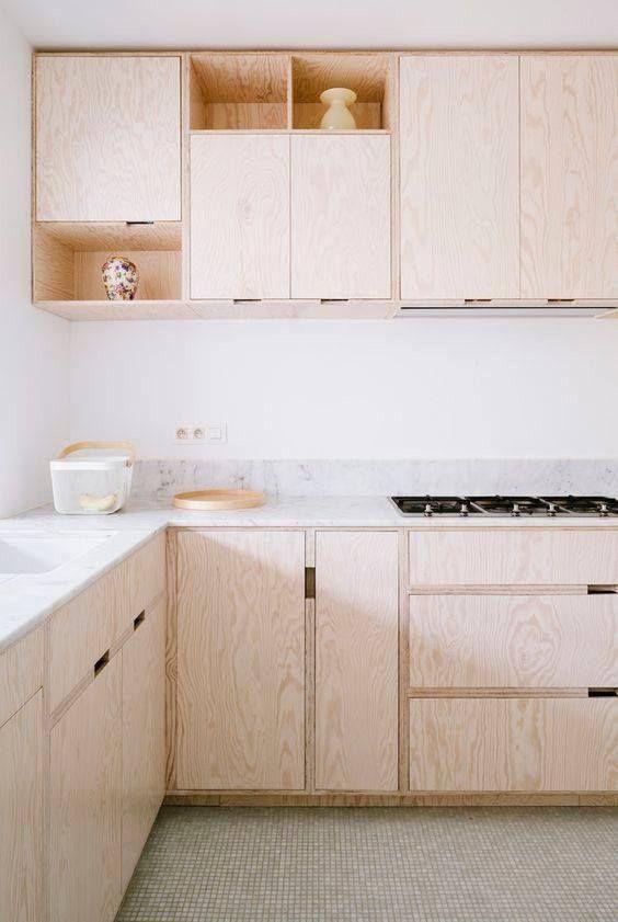 Photo of Compensato per una cucina minimalista.