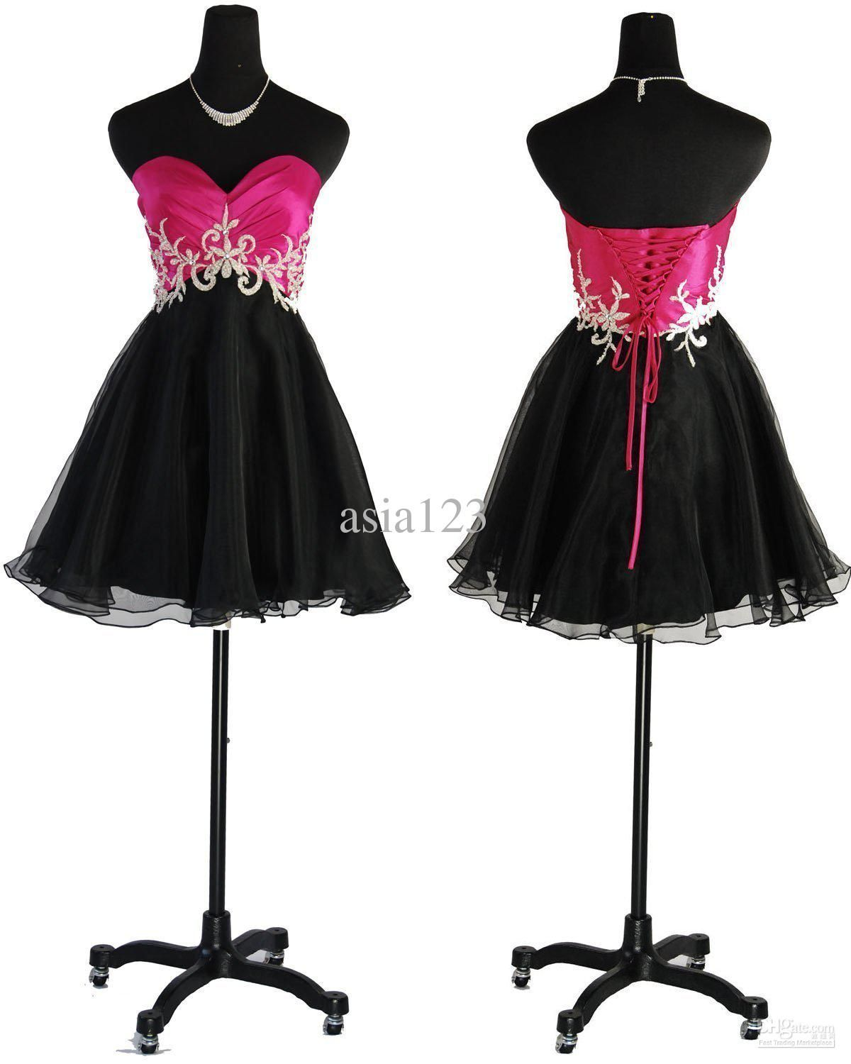 Images of Hot Pink And Black Dresses - Reikian