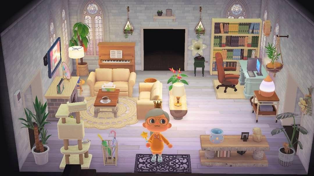 Living room idea: Animal Crossing New Horizons 🌿🏠 in 2020 ... on Animal Crossing New Horizon Living Room Ideas  id=62135