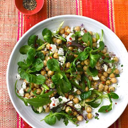 Chickpea Chilli & Feta Salad from The Balance Diet by Pure Package and Jennifer Irvine | Recipes | Nutrition | redonline.co.uk
