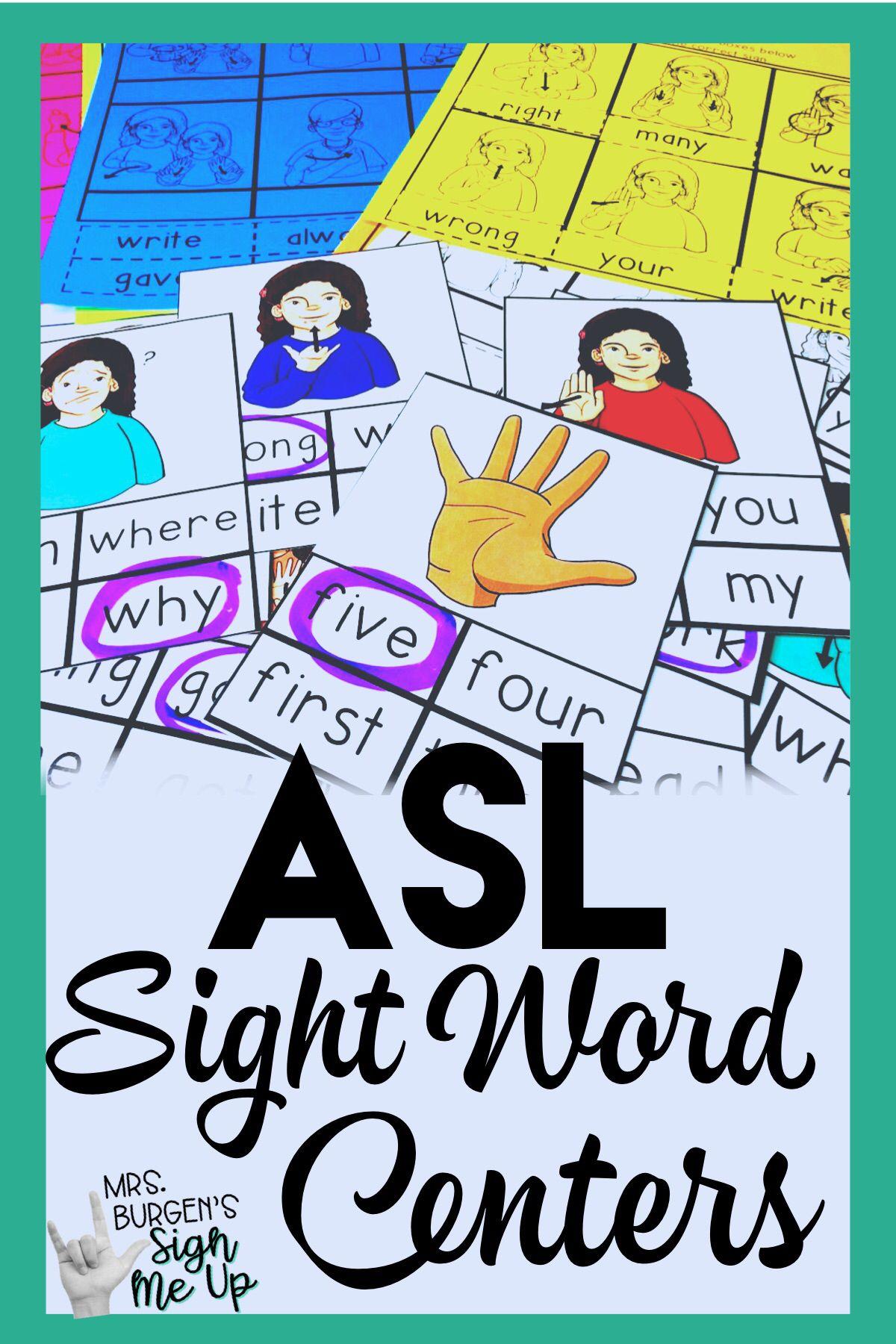 Asl Sight Word Read It Second Grade
