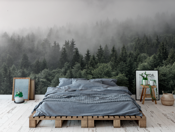 Photo of The Mountains Are Calling Wall Mural (Self-Adhesive)