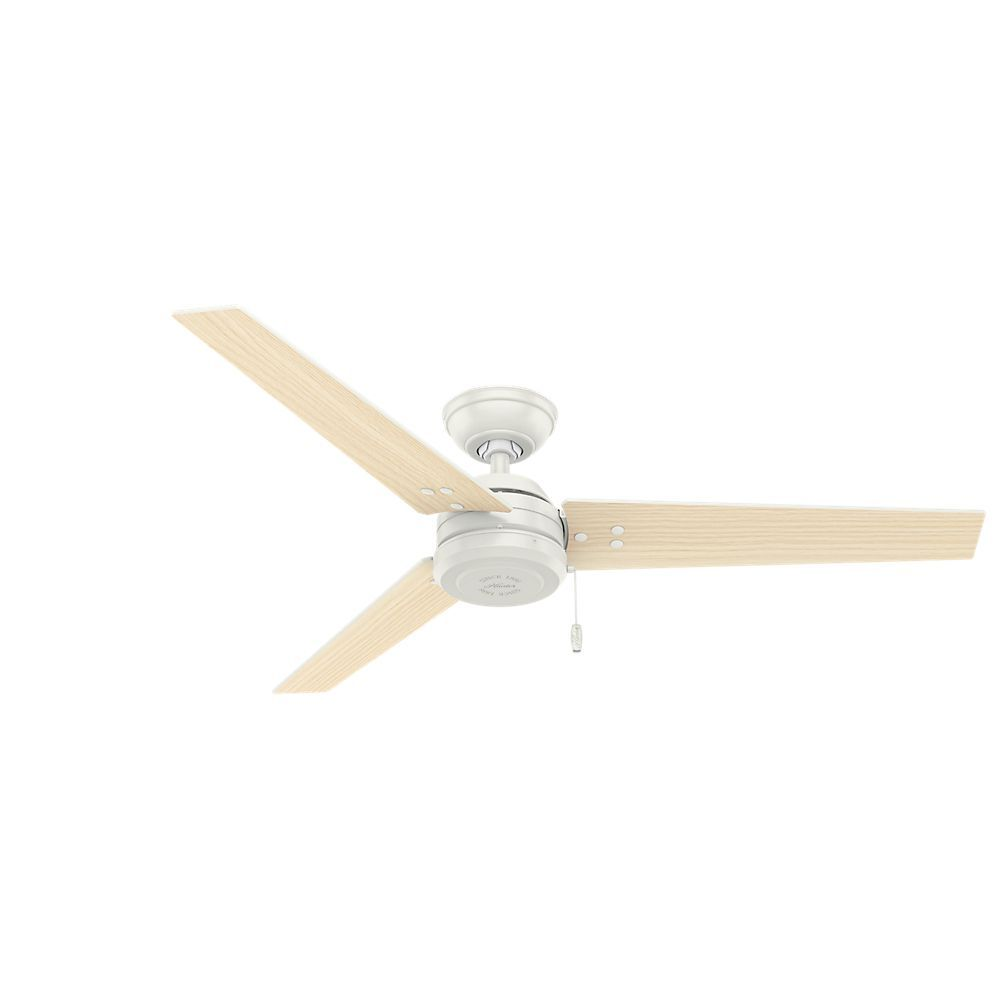 Hunter fan cassius fresh white stainless steel silver 52 inch hunter fan cassius fresh white stainless steel 52 inch ceiling fan with 3 reversible blades stainless steel hardware to resist rust metal mozeypictures Images