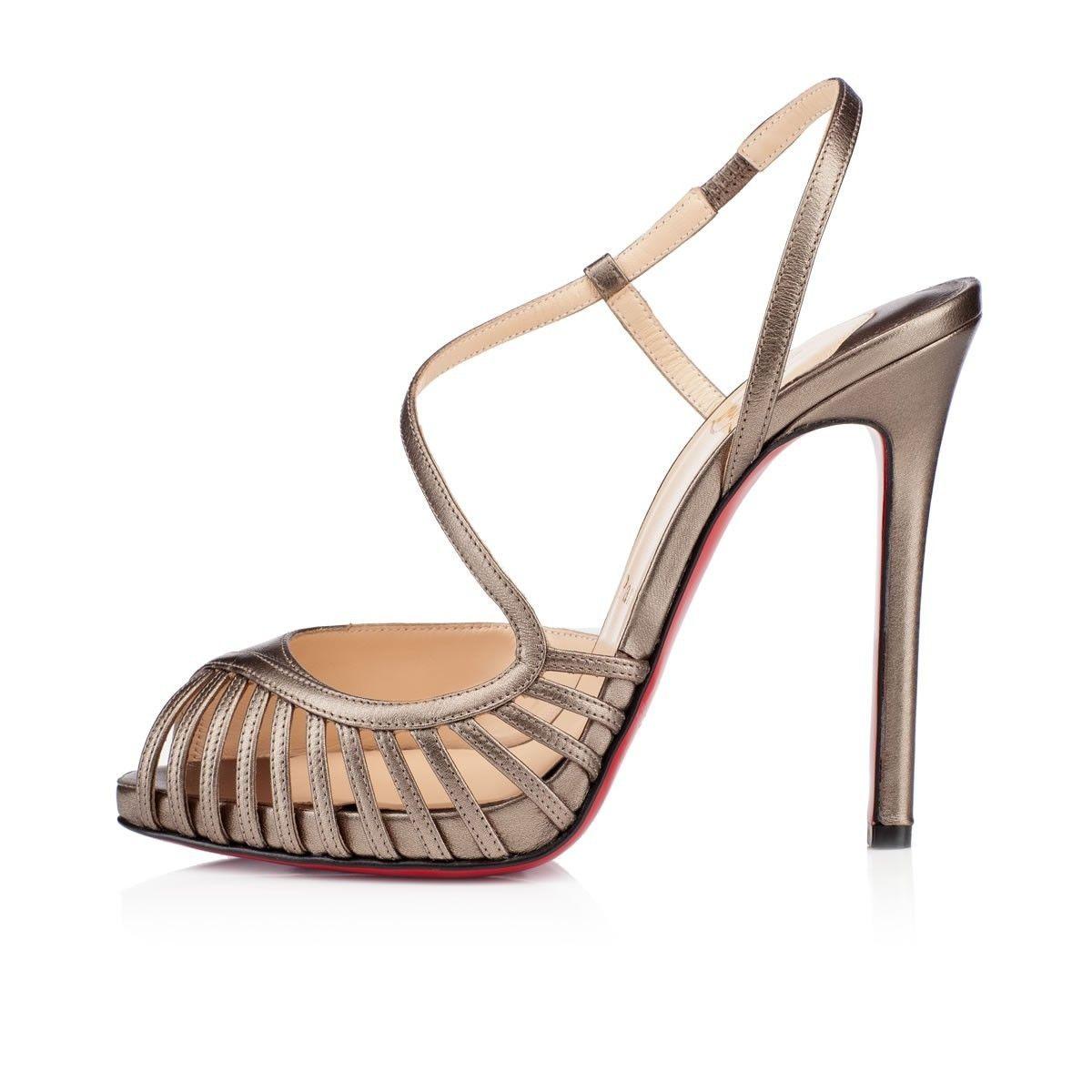 Chaussure Louboutin Pas Cher Escarpins Scoubridou 120mm Bronze 1  #redbottomshoes