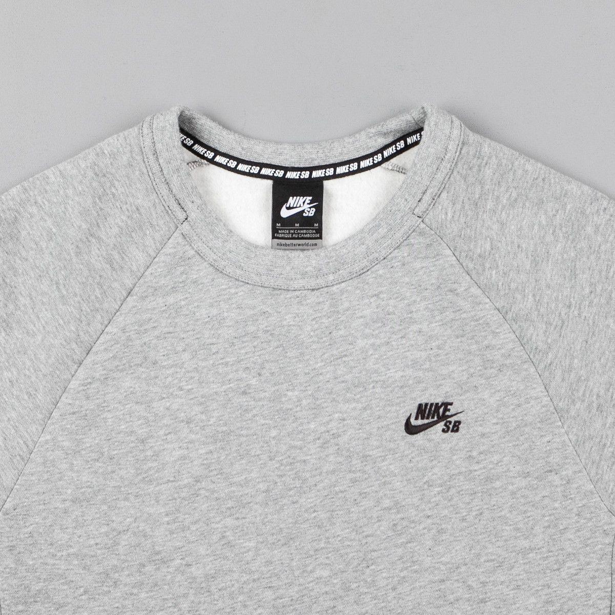 Predownload: Nike Sb Icon Crew Neck Sweatshirt Dark Grey Heather Black Crew Neck Sweatshirt Heather Black Sweatshirts [ 1200 x 1200 Pixel ]