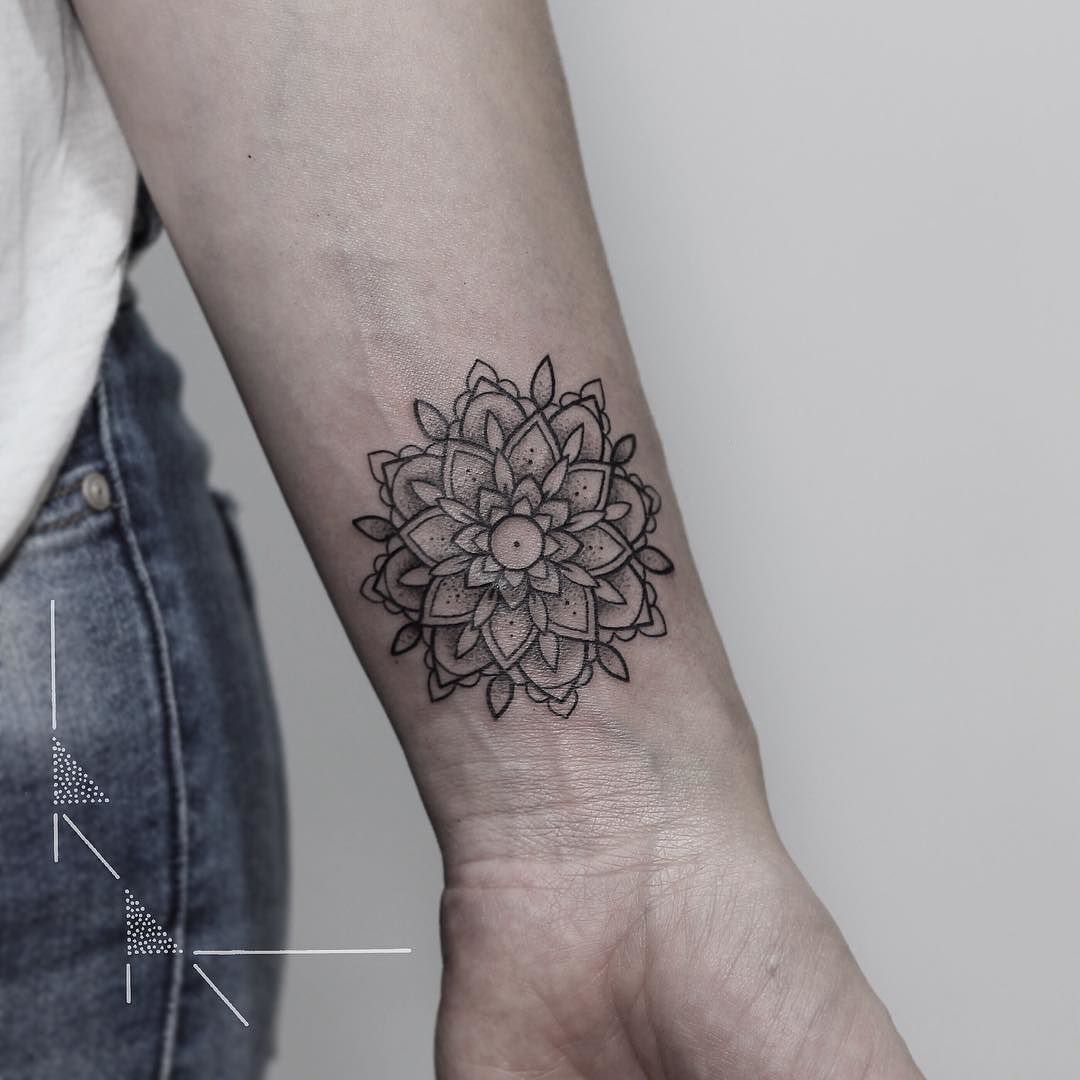 Wrist Mandala Tattoos Henna: Miniature Wrist Mandala For Marie. Thank You