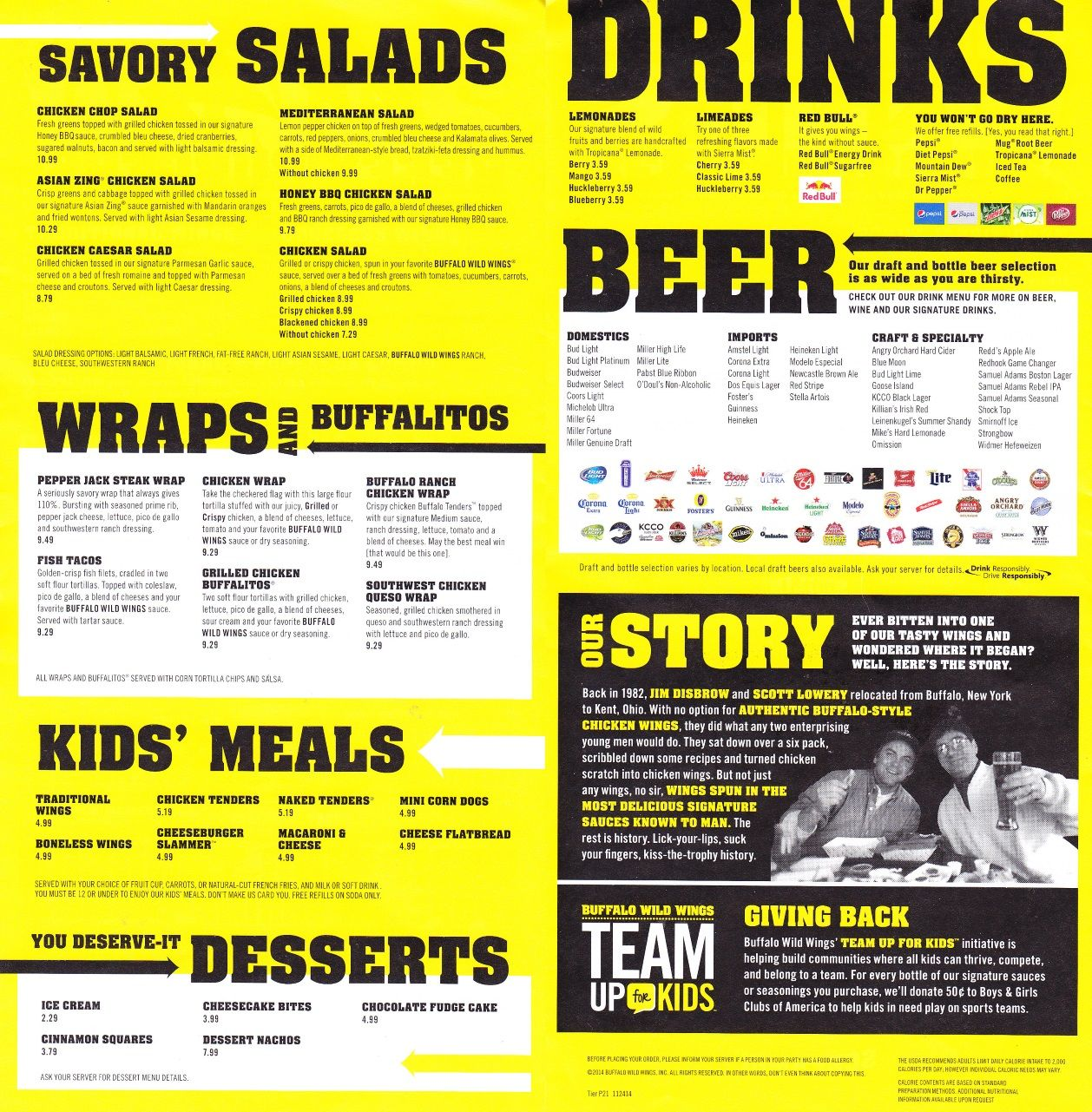 image relating to Buffalo Wild Wings Printable Menu identify Graphic final result for buffalo wild wings Menu Layout Steak